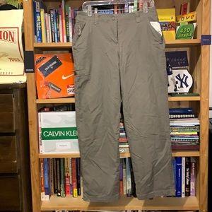 L.L. BEAN-women's gray stretch trail-hiking/outdoor wear pants